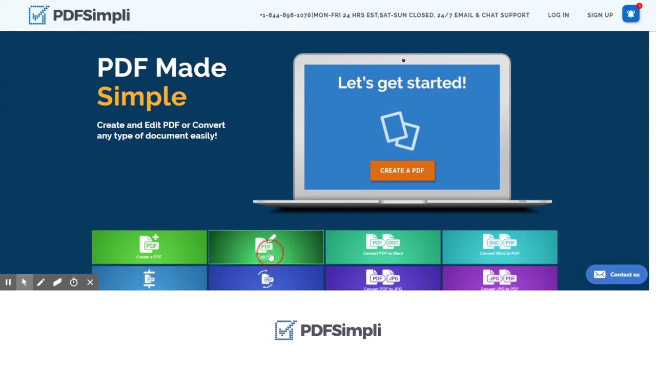The PDFSimpli Image to PDF converter has a very simple interface